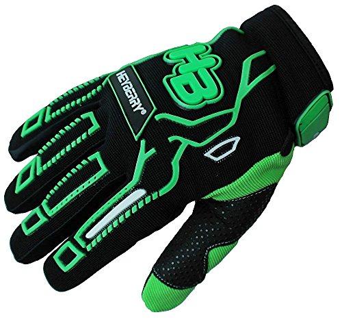 HEYBERRY Motocross MTB MX Handschuhe schwarz grün Gr. L