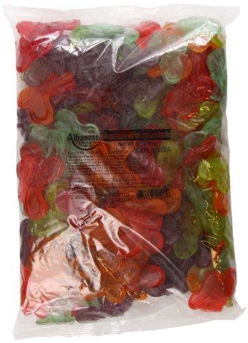 Albanese Gummi Candy, Asst. Wild Fruit, Large Butterflies, 5 Pound