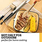 Cooking Tongs for Kitchen Grill & BBQ - Best Tongs for Cooking Food in the Sizes You Need - Long Locking Stainless Steel…