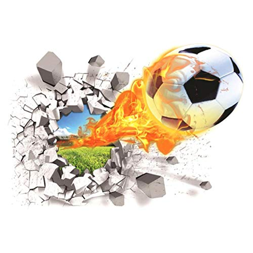 Fútbol 3d Etiqueta De La Pared Creativa Tatuajes De Pared Sala De Estar De Los Niños Extraíble Pared Del Balón De Fútbol Colorido Envoltorio Opción Ideal Y Práctica