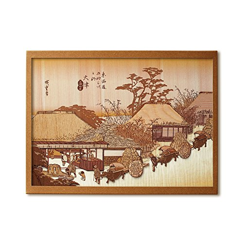 KINOWA 「大津 走井茶屋」 木はり絵 オリジナル 手作り キット 浮世絵 広重 東海道五十三次 日本製