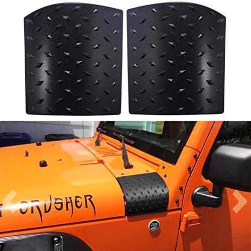 Bentolin Cowl Body Armor Powder Coated Finish Outer Cowling Cover Compatible with Jeep Wrangler JK Rubicon Sahara Sport X & Unlimited 2/4 Door 2007-2018
