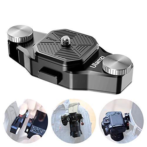 "Ulanzi カメラキャプチャー カメラホルスター カメラホルダー バックパッククリップクイックリリース1/4""ネジあり 一眼レフDSLR Digital SLR Camera GoProに対応 簡単脱着"