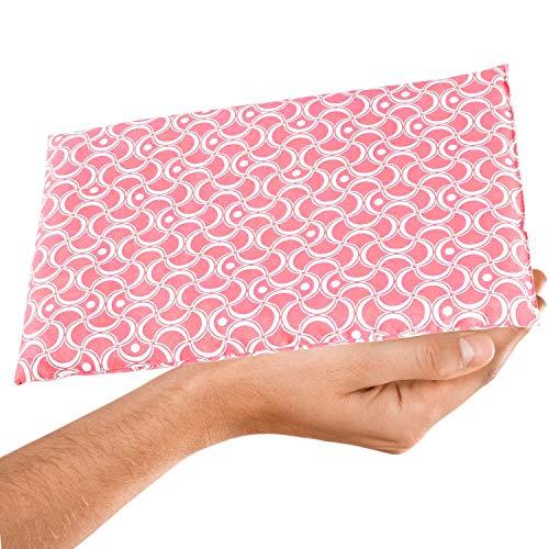 AKTION Frauen WÄRMEKISSEN mit Traubenkern-Füllung - Hilfe bei Menstruationsbeschwerden/Das LADY Körnerkissen für Mikrowelle, 30x20cm Traubenkernkissen in Pink