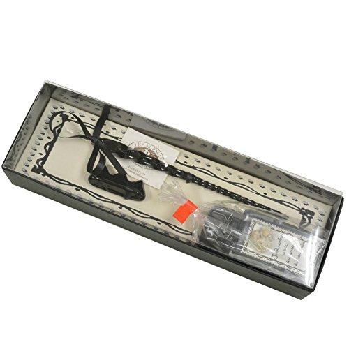 ルビナート ガラスペン 香水インク&ペンスタンドセット 19/LEO ブラック