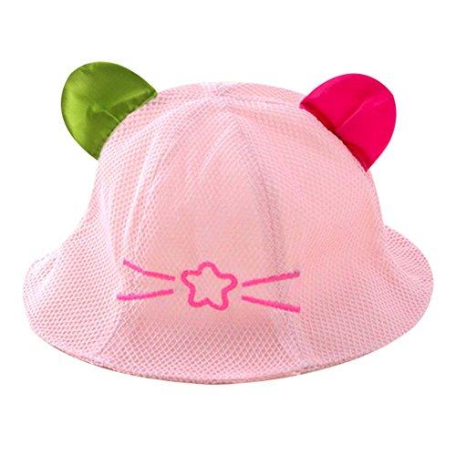 Rose Grand cadeau Chapeau de bébé Chapeau d'été Chapeau de plage pliable Cape Sunhat
