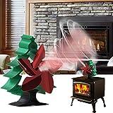 Ventilador de Estufa de 5 Palas forma de árbol de Navidad [2021 regalo de año nuevo]Ventilador de Chimenea alimentado por calor silenciosas respetuosas con el medio ambiente