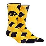 NCAA Super Premium College Fan Socks (L/XL, Iowa Hawkeyes - Argyle)