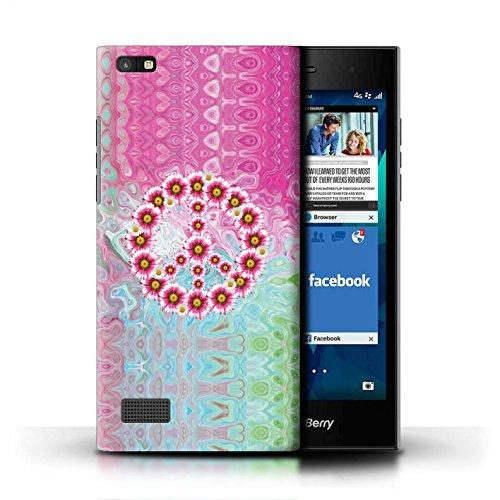 Stuff4® Hülle/Case für BlackBerry Leap/Krawatte Farbstoff Marmor Muster/Hippie Hipster Kunst Kollektion