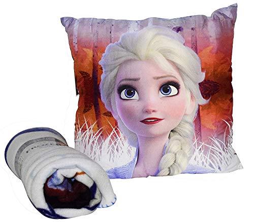 Frozen Set cojin + Manta en Display 2 Referencia KD Textiles del hogar Unisex Adulto, Multicolor (Multicolor), única