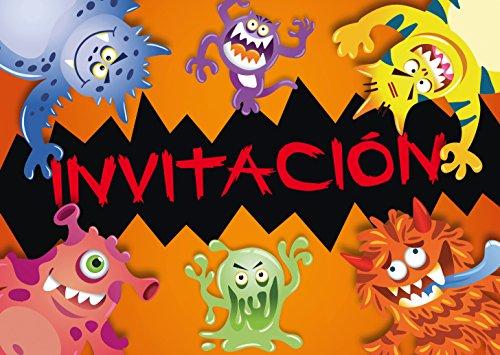 """Edition Colibri 10 Invitaciones en español """"Monstruo"""": Juego de 10 Invitaciones para un horripilante cumpleaños Infantil de Monstruos o Fiesta de Halloween (10969 ES)"""