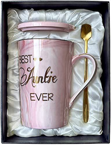 Aunt Gifts Best Auntie Ever Coffe Mug Gifts for Auntie from Niece and...