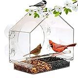 WX Alimentador De Tipo De Adsorción Pájaro, Jaula De Pájaros Transparente Acrílico, Alimentador De Aves Silvestres De Mascotas, La Alimentación Al Aire Libre para Jardín De Su Casa