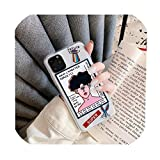 iPhone 11 Pro Max XR XS Max X 7 8プラス6 6 sカバー面白い漫画透明ソフトケース、iphone11、スタイル01のためのかわいいグラフィティアートパターン電話ケース