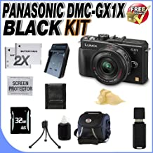 The Panasonic LUMIX DMC-GX1X Digital Camera & G X VARIO PZ 14-42mm Lens + 32GB SDHC Memory Card + TWO Extended Life DMW-BLD10 Batteries + Ac/Dc Rapid Charger + Deluxe Case + SDHC Card Reader + Memory Card Wallet + Accessory Saver Bundle!