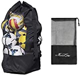Extra Large Mesh Ball Bag Waterproof Equipment Duffel Bag Heavy Duty Net Ball Shoulder Bag Basketball...
