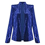 Blazer Femme Chic Brillant Paillettes Cardigan Blouson Manche Longue Mode Élégant Veste de Tailleur Pas Cher, pour Fête,...