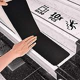 "6""x30"" Anti Slip Tape Outdoor Stair Treads Non-Slip (10-Packs Black) Non Slip Tap"