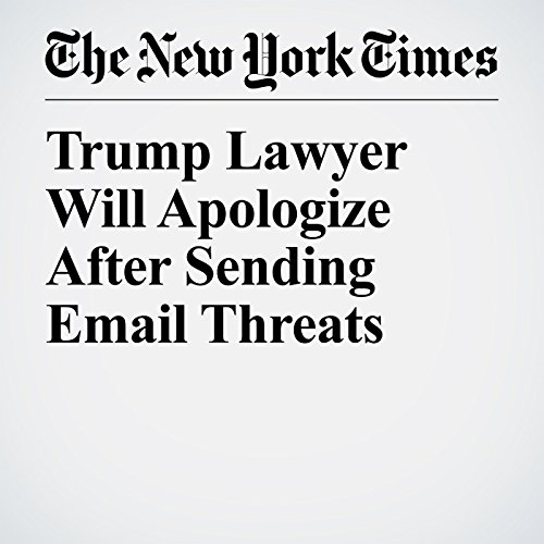 Trump Lawyer Will Apologize After Sending Email Threats copertina
