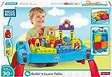 Mega Bloks La Table d'Apprentissage bleue avec blocs de construction et 2 véhicules,...