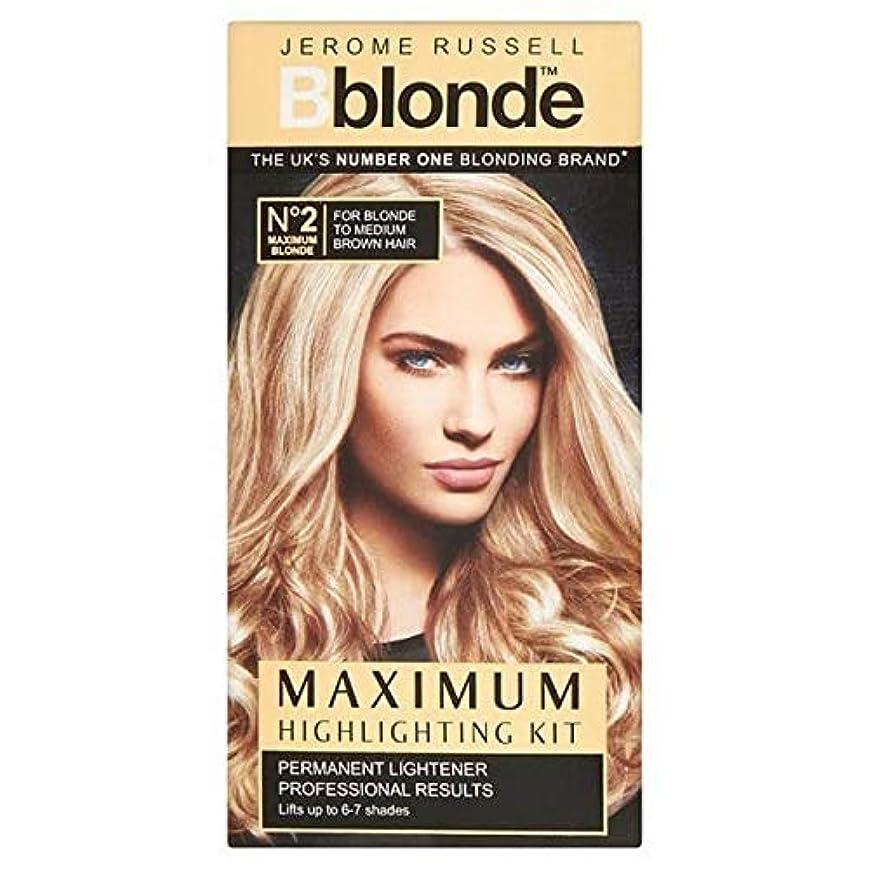 独立先例繰り返し[B Blonde] ジェロームラッセルBblondeなし2最大のハイライトキット - Jerome Russell Bblonde No 2 Maximum Highlighting Kit [並行輸入品]