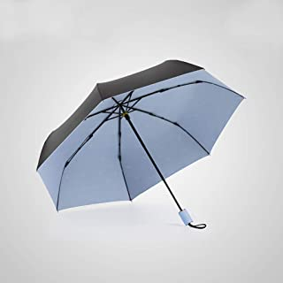 GHMOZ Ultra-Light Portable Folding Umbrella Super Sun Protection UV Umbrellas Rain and Rain Umbrellas Blue, Green, Orange Optional (Color : Blue)