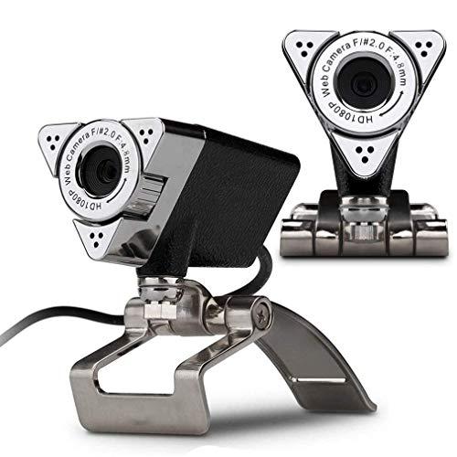 RXLLSY Cámara Web 1080P, cámara Web con micrófono Incorporado USB Plug & Play para conferencias en Vivo Cámara de Video de Escritorio Cámaras Web para computadora portátil