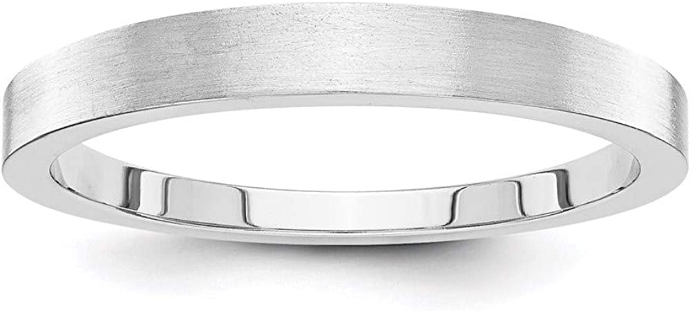 14k White Gold 3mm Tapered Wedding Ring Band Classic Fine Jewelry For Women Gifts For Her