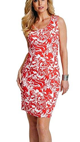 Shirt-Kleid Strandkleid Hummer/weiß Bedruckt 929588 (44/46)