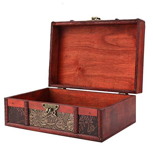 Denash Caja de Almacenamiento portátil Vintage, Cofre del Tesoro Grande ecológico, para almacenar Libros decoración del...