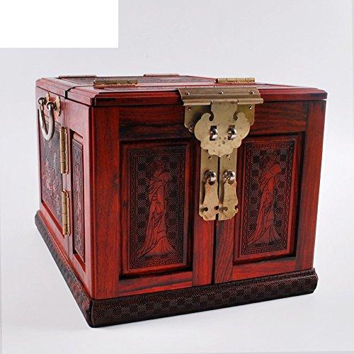 Rode rozenhout mahonie doos opbergkast dressoir spiegel Phoenix schatkist en alle massief hout sieraden doos Opbergdoos