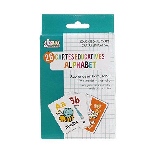 Jeux 2 Momes EA5014 Carte Educative Mots, Papier, Multicolore, 7,9 x 12 x 0,1 cm
