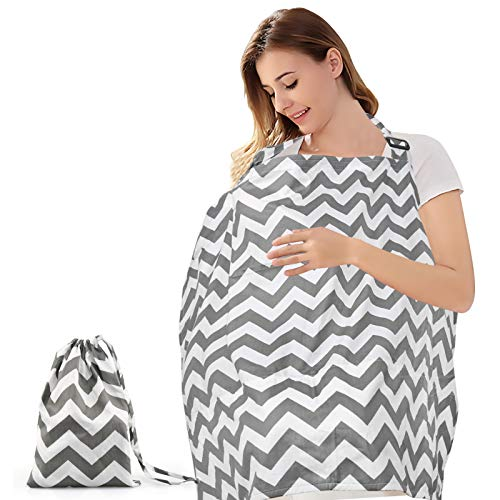 BelleStyle Grembiule Allattamento, Poncho per allattamento Coperta Allattamento per Bambini Sciarpa Allattamento Sciarpa traspirante in cotone Scialle per allattarein Pubblico