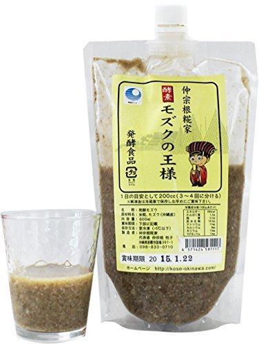 酵素 モズクの王様 600ml×18P 仲宗根糀家 沖縄県産太モズクを丸ごと糀で発酵 フコイダンたっぷり太もずく使用