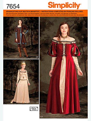Simplicity Schnittmuster 7654.R5 Kostüm