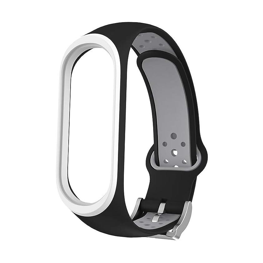 同化取り壊す皮肉4Fires 腕時計アクセサリー,Xiaomi Mi Band 4と互換性のあるスポーツソフトシリコンホールリストバンドリストストラップ