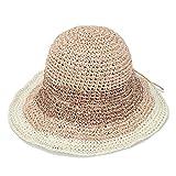 [モンベル] mont-bell カラーブロック ストローハット 麦わら帽子 (ベージュ, S(頭囲:約56cm)) [並行輸入品]