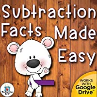 Subtraction Basic Facts Subtrahends 0-10 Mastery Made Fun Unit Printable or for Google Drive™ or Google Classroom™