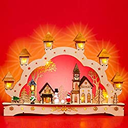 Sikora LB62 illuminated LED wood candle arch CHRISTMAS VILLAGE including transformer