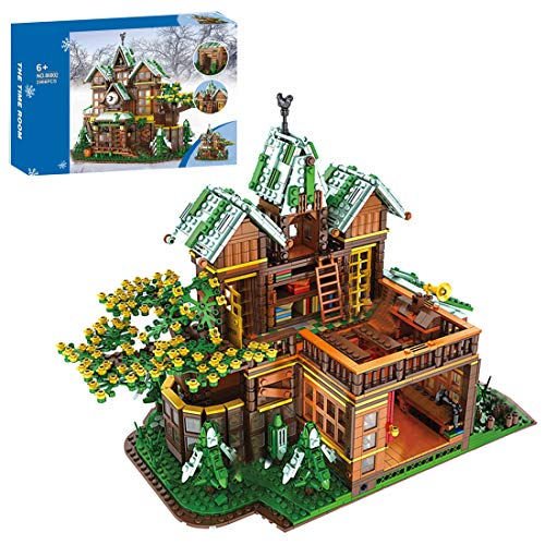 NFtop Baumhaus Moludar Haus Bauset, Molular Building Konstruktion Set Kompatibel mit Lego - 2466 Teile