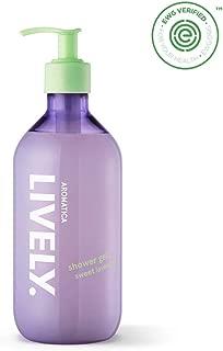 AROMATICA LIVELY Shower Gel, Sweet Lavender 16.91oz / 500ml, Vegan, EWG VERIFIED