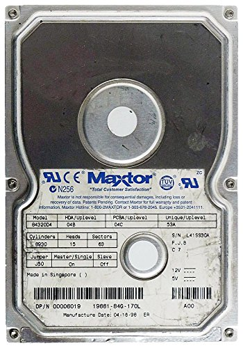 4,3 GB AT disco duro Maxtor 84320D4 IDE ID8882