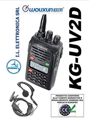 Wouxun KG-UV2D - 2m/70cm urfunk Handfunkgerät + UKW-Radio - inkl. Tischlader und Akku