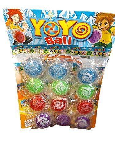 fat-catz-copy-catz - Lot de 12 yoyos en Plastique coloré pour Enfants