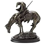 Elegantly crafted from polyresin Handcrafted, hand painted in a cold-cast bronze-finish Perfect for display atop any shelf, mantle or table Fabulous collectible for any native American theme Wonderful gift for friends and family