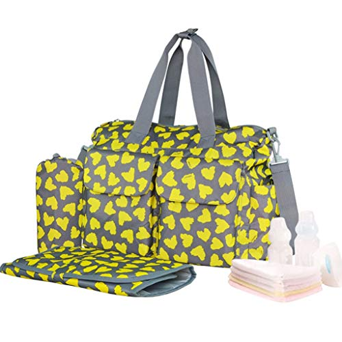 ZZTTZZ Bolsa de momias de gran capacidad, bolsa de pañales, bolsa de mano, mochila multifunción de moda, bolsa de leche en polvo, bolsa de cambio grande de pañales, esposas de salida, bolsa de madre y