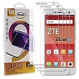 Guran 4 Paquete Cristal Templado Protector de Pantalla para ZTE Blade V8 Mini Smartphone 9H Dureza Anti-Ara?azos Alta Definicion Transparente Película