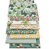 ZGXY Fabric, 8 pcs/lot Fat Quarter Fabric Bundles 100% Cotton 20'' x 20''(50cm x 50cm) Quilting Cotton Craft Fabric Pre-Cut Squares Sheets for Patchwork Sewing Quilting Crafting, Floral Pattern