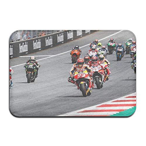 OUSHENGMAOYI Otros Moto GP Super Bikes Día De La Carrera De Motos Tapete De Suelo Alfombra,Felpudo Absorbente,Alfombra De Baño Antideslizante