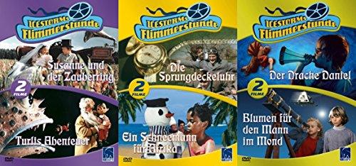 Flimmerstunde - 6 Defa Kinderfilm Klassiker - Susanne & der Zauberring + Turlis Abenteuer + Sprungdeckeluhr + Schneemann für Afrika + Drache Daniel + Blumen für den Mann im Mond